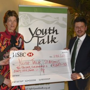 Dream Team Charity Dinner - cheque