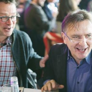Hugh Fearnley Whittingstall and Raymond Blanc (image by SRA)